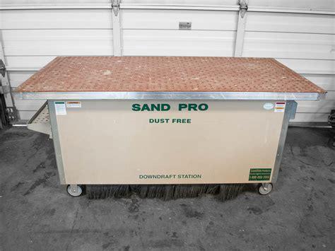 sandman  downdraft table coast machinery group