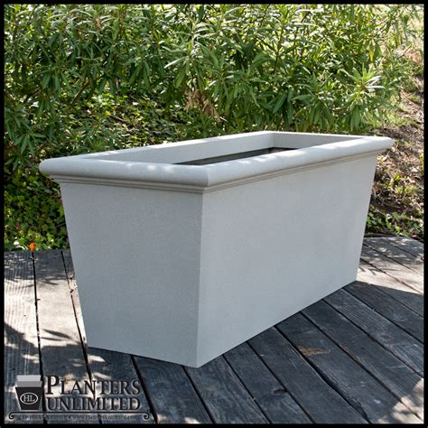 Rectangular Planter by Tuscana Tapered Rectangular Planters