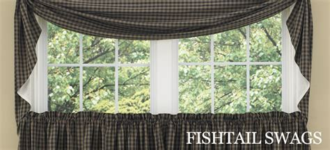 fishtail curtains country curtains fishtail swags hooks country