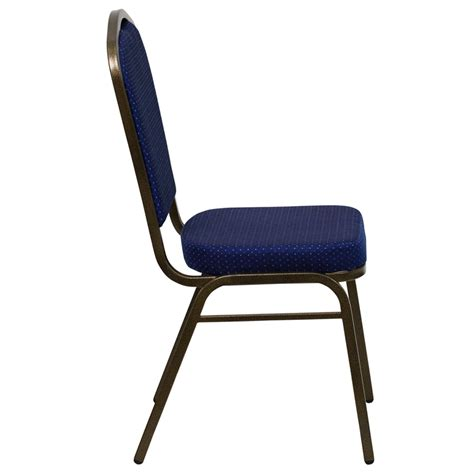 blue chair upholstery royal blue fabric crown back banquet chair w gold vein frame