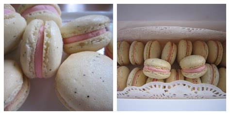 Teh Lipton Strawberry cake2u strawberry macarons