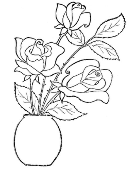 rose coloring pages pdf download rose flower coloring pages kids or print rose