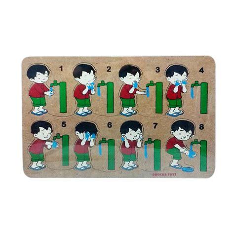 Mainan Edukasi Puzzle jual mainan edukasi laki laki wudhu puzzle