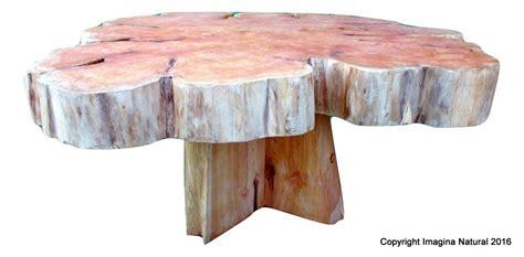 Large Cypress Handmade Tree Slice Slab Coffee Table Tree Log Coffee Table