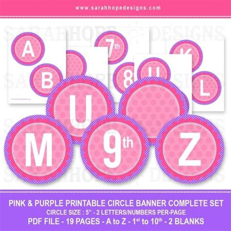 printable abc banner spell out anything with these free alphabet circle banners