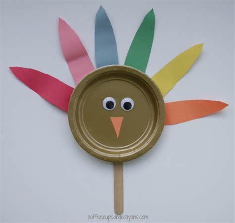 Paper Cup Turkey Craft - paper plate turkey craft coffee cups and crayons
