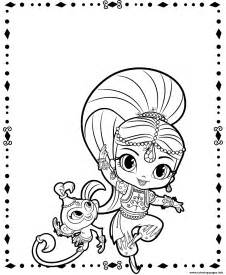 shimmer pet shimmer shine coloring pages printable