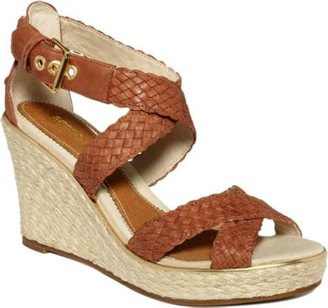 sperry top sider harbordale platform wedge sandals in