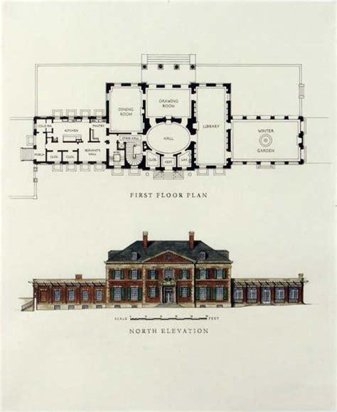 English Manor Floor Plans by Georgian House