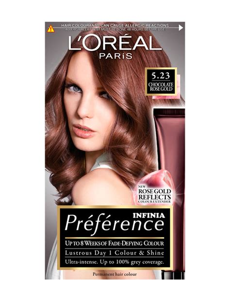 loreal hair dye colors pr 233 f 233 rence infinia 5 23 chocolate gold permanent hair