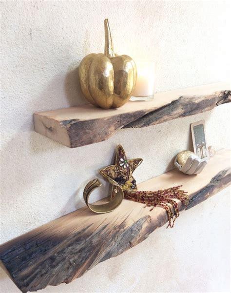 floating shelves wood driftwood style set of 2 wall shelves