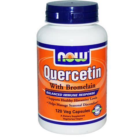 Suplemen Bromelain now foods quercetin with bromelain 120 veggie caps