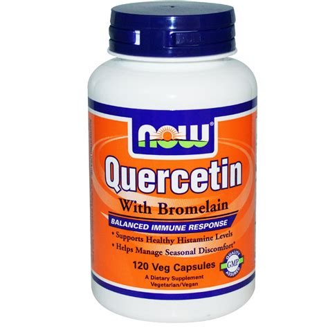supplement quercetin now foods quercetin with bromelain 120 veggie caps