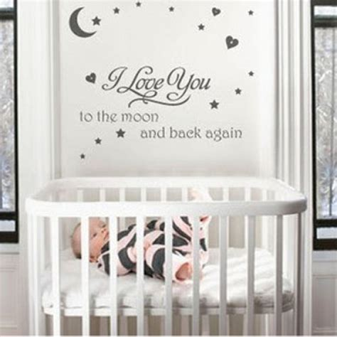 nursery wall sticker quotes i you to the moon quote nursery wall sticker