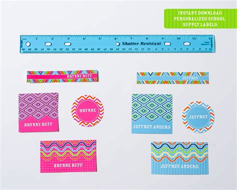 Ruff Draft Getting Ready For Back To School With New Personalizable Labels Anders Ruff Custom Sticker Template
