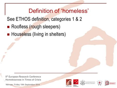 design ethos definition making homeless people visible in the eu silc surveys