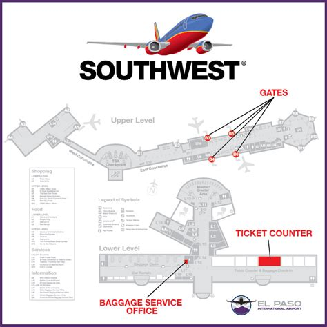 houston airport map southwest maps update 720502 southwest airlines travel map