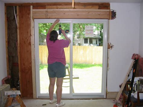 patio door install patio how to install a patio door home interior design