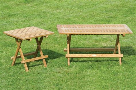 folding teak picnic table teakunique