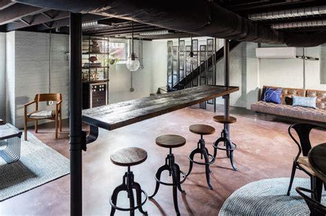 industrial deko industrial deco lounge industriel sous sol raleigh