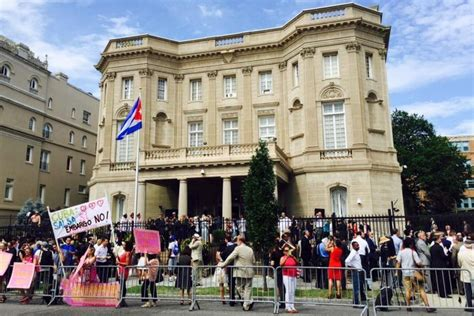 cuban interests section washington dc caribbean communism comes to washington as cuban embassy