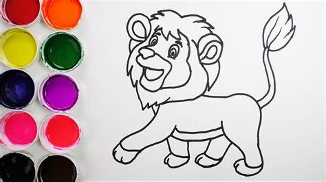 imagenes de niños tristes dibuja y colorea un leon de arco iris dibujos para ni 241 os