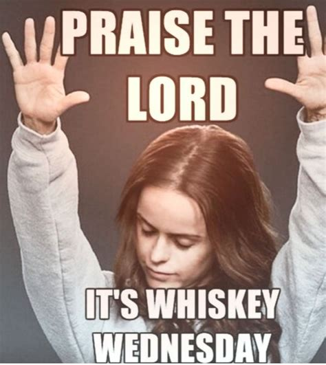 Whisky Meme - you don t need any excuses to drink whiskey but you ll take them when you can wine wednesday
