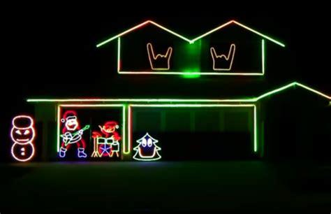 slayer bob christmas lights slipknot psychosocial christmas light show youtube punk