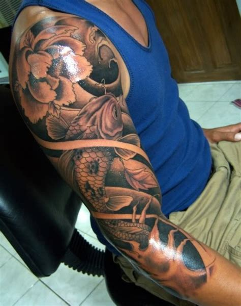 mens flower tattoos ideas flower sleeve tattoofanblog