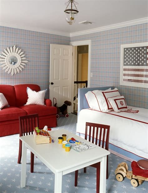 red white and blue home decor red white and blue boy s room traditional boy s room