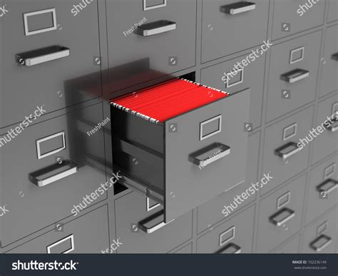 File Drawer Problem by File Cabinet With Open Drawer Stock Photo 102236149