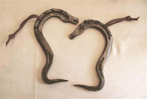 Handmade Horseshoes - hoof handmade from horseshoe by cowboy by artofthehorse