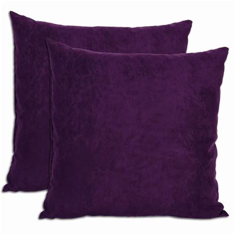 Microsuede Throw Pillows by Purple Microsuede Feather And Filled Throw Pillows