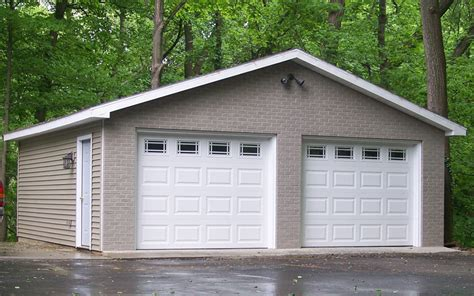 Two Car Garage With Carport by Denny Pole Barn Construction Evansville In