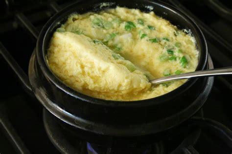 steamed eggs the optimist kitchen korean food photo fluffy steamed eggs maangchi