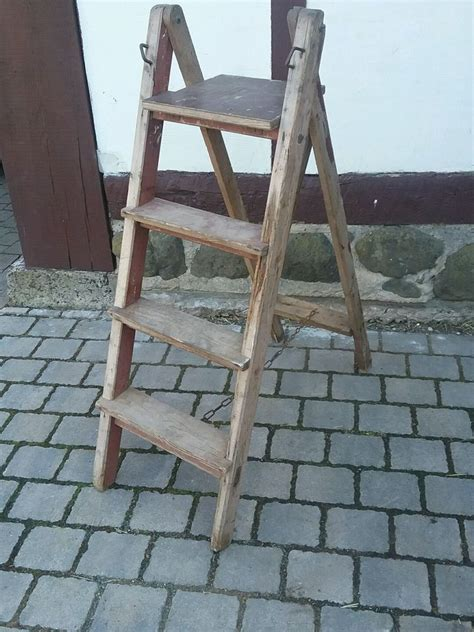 Alte Leiter Holz by Alte Holz Leiter Malerleiter Klappleiter Blumentreppe