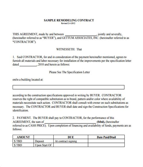owner financing contract template agreement letter for
