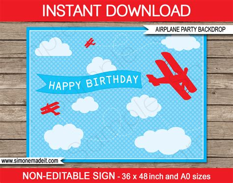 aeroplane template for birthday card new printable airplane backdrops