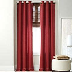 jcpenney red curtains imperial palace grommet panel cortinas pinterest