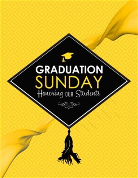 graduation sunday honoring church flyer template flyer