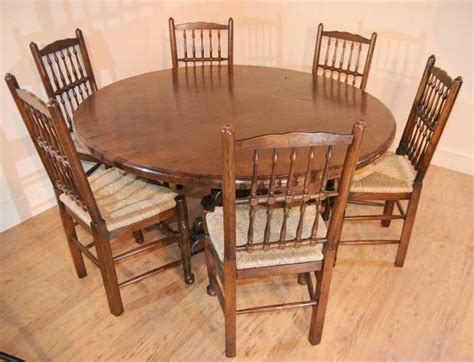 round farmhouse dining round oak farmhouse refectory table kitchen dining