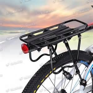 bicycle mountain bike rear rack seat post mount pannier