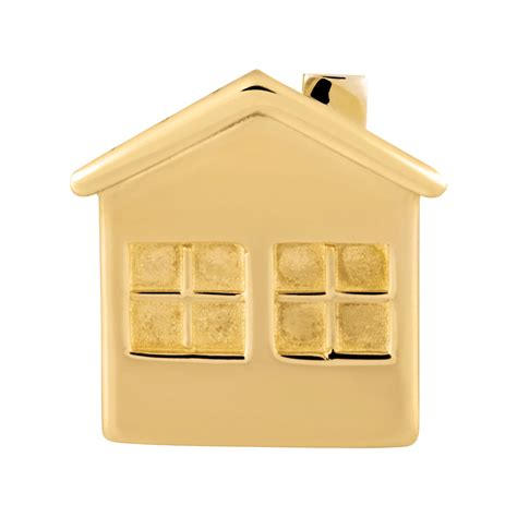 home gold 10ct yellow gold house charm