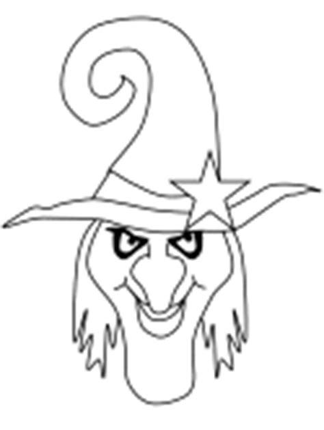 witch head coloring page dibujos para colorear