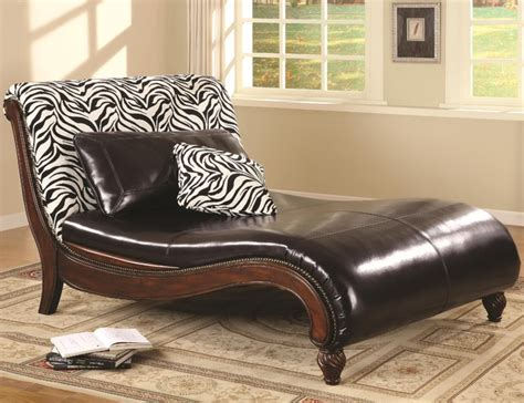 accent chaise lounge accent seating zebra animal print chaise lounge by coaster