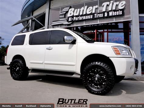 nissan armada off road nissan armada with 18in fuel hostage wheels exclusively