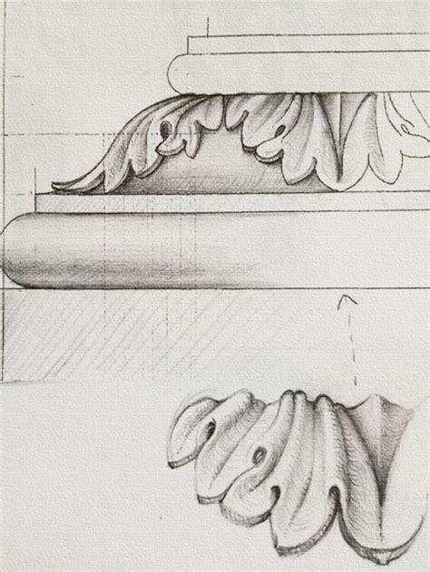 pedestal drawing 15 besten unterricht bilder auf pinterest akanthus