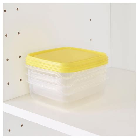 Ikea Pruta pruta food container transparent yellow 0 6 l ikea