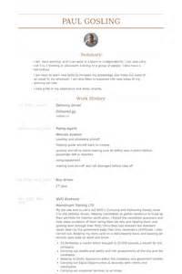 Delivery Driver Resume Exles by Driver Resume Sles Visualcv Resume Sles Database