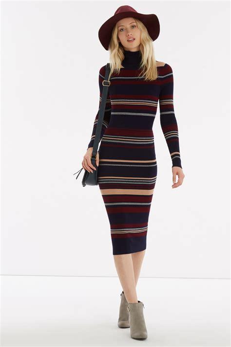Dress With Stripe lyst oasis 70s stripe dress in blue